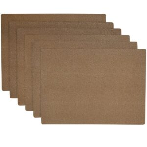 Sweet Pea Linens - Brown & Tan Dot Vinyl Wipe Clean Rectangle Placemats - Set of Six (SKU#: RS6-1002-V2) - Product Image