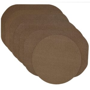Sweet Pea Linens - Brown & Tan Dot Vinyl Wipe Clean Oval Placemats - Set of Six plus Center Round-Charger (SKU#: RS7-1040-V2) - Product Image