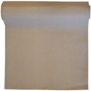 Sweet Pea Linens - Tan Dot Vinyl Wipe Clean 72 inch Table Runner (SKU#: R-1024-V3) - Product Image