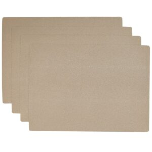 Sweet Pea Linens - Tan Dot Vinyl Wipe Clean Rectangle Placemats - Set of Four (SKU#: RS4-1002-V3) - Product Image
