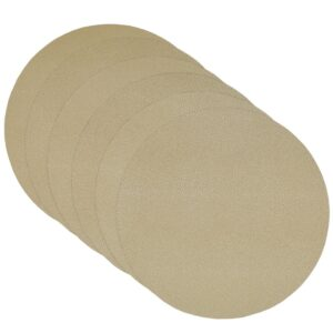 Sweet Pea Linens - Tan Dot Vinyl Wipe Clean Charger-Center Round Placemat - Set of Six (SKU#: RS6-1015-V3) - Product Image