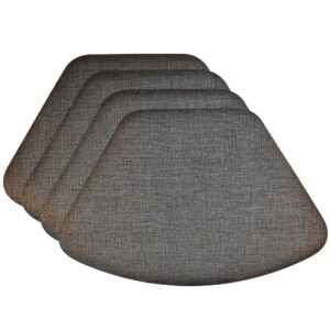Sweet Pea Linens - Silver & Black Vinyl Wipe Clean Wedge-Shaped Placemats - Set of Four (SKU#: RS4-1006-V4) - Product Image