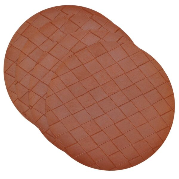 Sweet Pea Linens - Brick Leather Look Vinyl Wipe Clean Charger-Center Round Placemats - Set of Four (SKU#: RS4-1015-V5) - Product Image