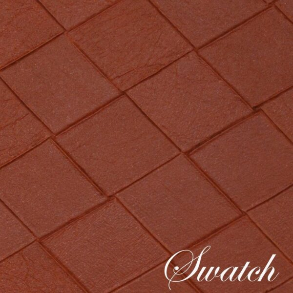 Sweet Pea Linens - Brick Leather Look Vinyl Wipe Clean Charger-Center Round Placemats - Set of Four (SKU#: RS4-1015-V5) - Swatch