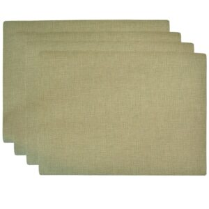 Sweet Pea Linens - Green Vinyl Wipe Clean Rectangle Placemats - Set of Four (SKU#: RS4-1002-V8) - Product Image