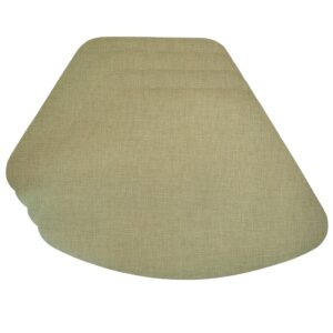 Sweet Pea Linens - Green Vinyl Wipe Clean Wedge-Shaped Placemats - Set of Four (SKU#: RS4-1006-V8) - Product Image