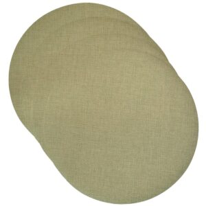 Sweet Pea Linens - Green Vinyl Wipe Clean Charger-Center Round Placemats - Set of Four (SKU#: RS4-1015-V8) - Product Image