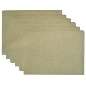 Sweet Pea Linens - Green Vinyl Wipe Clean Rectangle Placemats - Set of Six (SKU#: RS6-1002-V8) - Product Image
