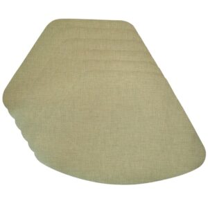 Sweet Pea Linens - Green Vinyl Wipe Clean Wedge-Shaped Placemats - Set of Six (SKU#: RS6-1006-V8) - Product Image