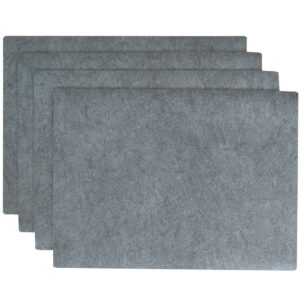 Sweet Pea Linens - Dusty Blue Vinyl Wipe Clean Rectangle Placemats - Set of Four (SKU#: RS4-1002-V9) - Product Image