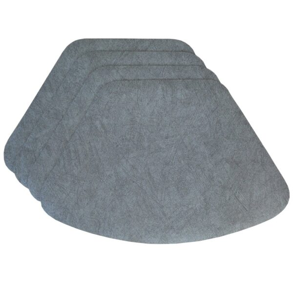 Sweet Pea Linens - Dusty Blue Vinyl Wipe Clean Wedge-Shaped Placemats - Set of Four (SKU#: RS4-1006-V9) - Product Image