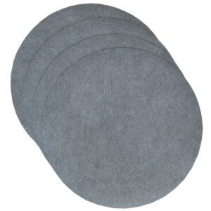 Sweet Pea Linens - Dusty Blue Vinyl Wipe Clean Charger-Center Round Placemats - Set of Four (SKU#: RS4-1015-V9) - Product Image