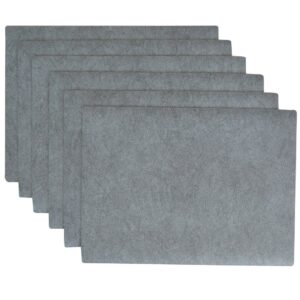 Sweet Pea Linens - Dusty Blue Vinyl Wipe Clean Rectangle Placemats - Set of Six (SKU#: RS6-1002-V9) - Product Image