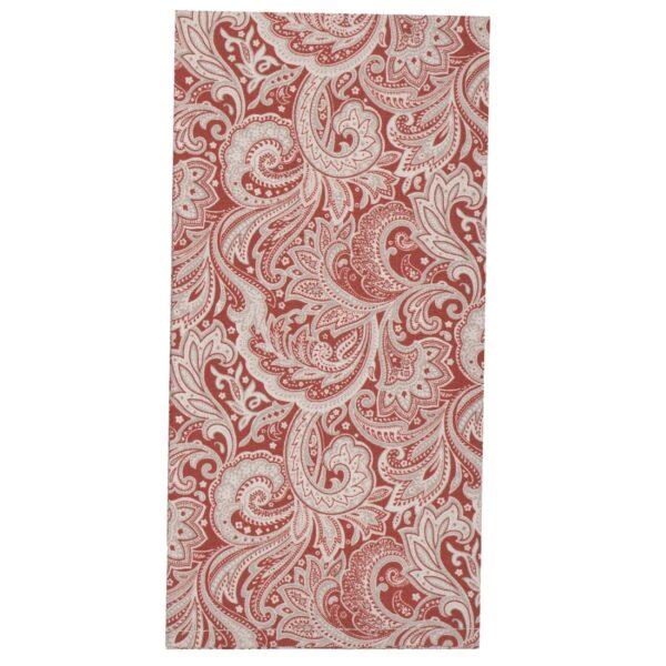 Sweet Pea Linens - Brick Red Paisley Print Cloth Napkin (SKU#: R-1010-W4) - Product Image