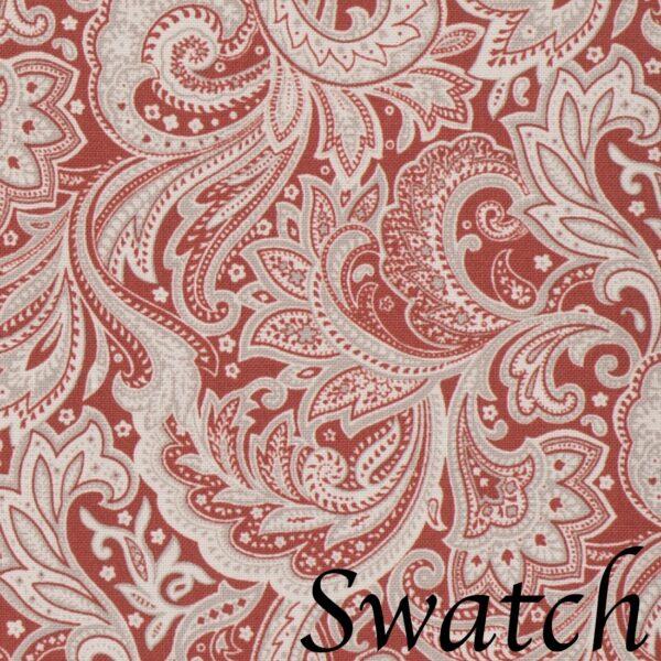 Sweet Pea Linens - Brick Red Paisley Print Cloth Napkin (SKU#: R-1010-W4) - Swatch