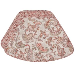 Sweet Pea Linens - Quilted Brick Red & Beige Paisley Print Wedge-Shaped Placemats - Set of Two (SKU#: RS2-1006-W4) - Product Image