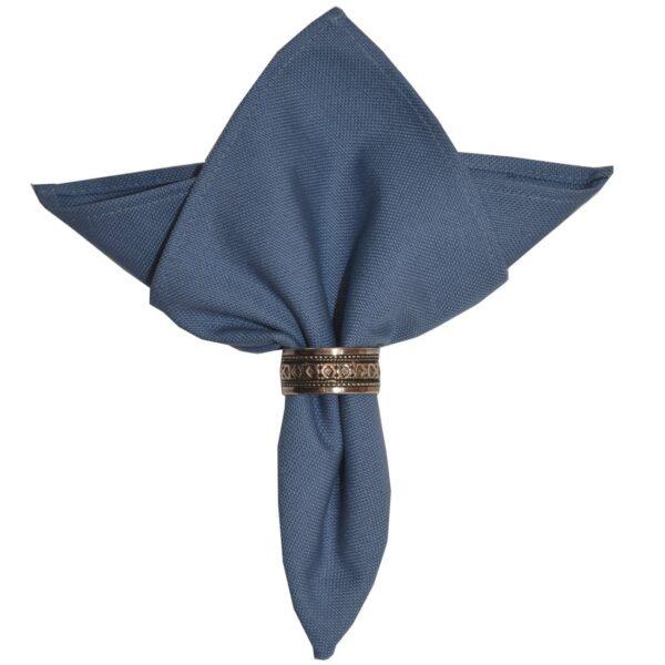 Sweet Pea Linens - Blue Canvas Cloth Napkin (SKU#: R-1010-U1) - Product Image
