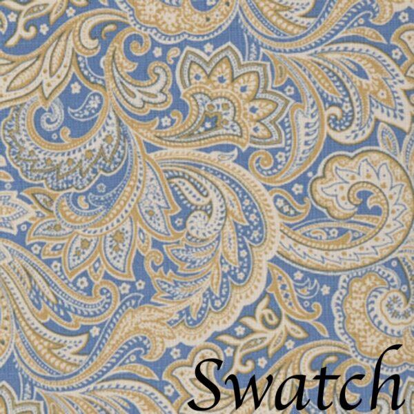 Sweet Pea Linens - Blue Paisley Print Cloth Napkin (SKU#: R-1010-W5) - Swatch