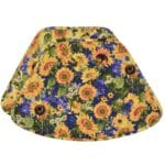 Sweet Pea Linens - Quilted Blue and Yellow Sunflower Print Wedge-Shaped Placemats - Set of Two (SKU#: RS2-1006-W6) - Product Image