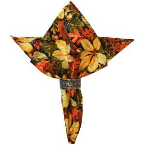 Sweet Pea Linens - Coordinating Fall Leaf Print Cloth Napkin (SKU#: R-1010-X1) - Product Image
