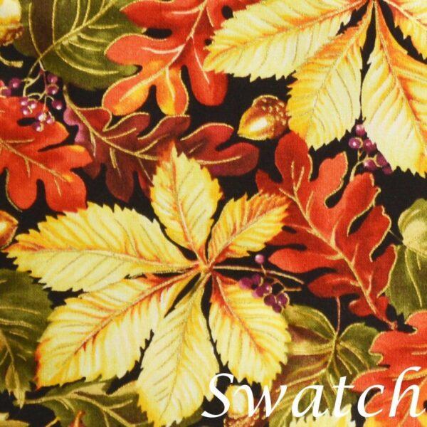 Sweet Pea Linens - Coordinating Fall Leaf Print Cloth Napkin (SKU#: R-1010-X1) - Swatch