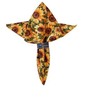 Sweet Pea Linens - Fall Sunflower Print Cloth Napkin (SKU#: R-1010-X10) - Product Image