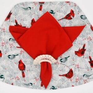Sweet Pea Linens - Solid Red Cloth Napkin (SKU#: R-1010-K) - Table Setting