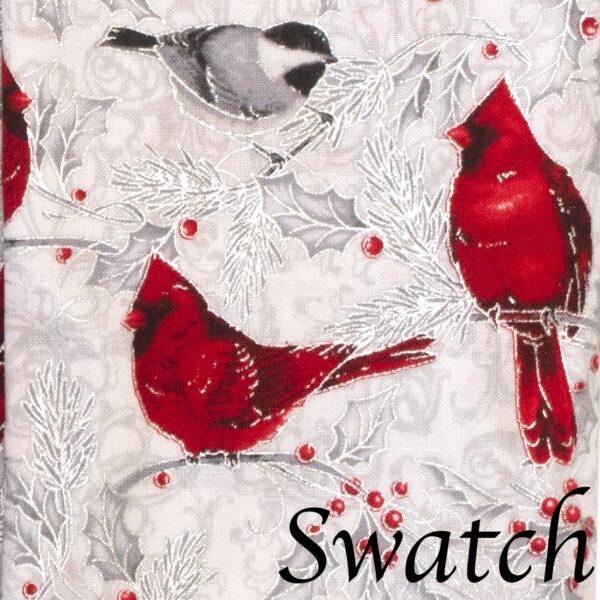 Sweet Pea Linens - Red Christmas Cardinal Cloth Napkin (SKU#: R-1010-X30) - Swatch
