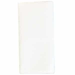 Sweet Pea Linens - Solid White Rolled Hem Jacquard Cloth Napkin (SKU#: R-1010-Y1) - Product Image