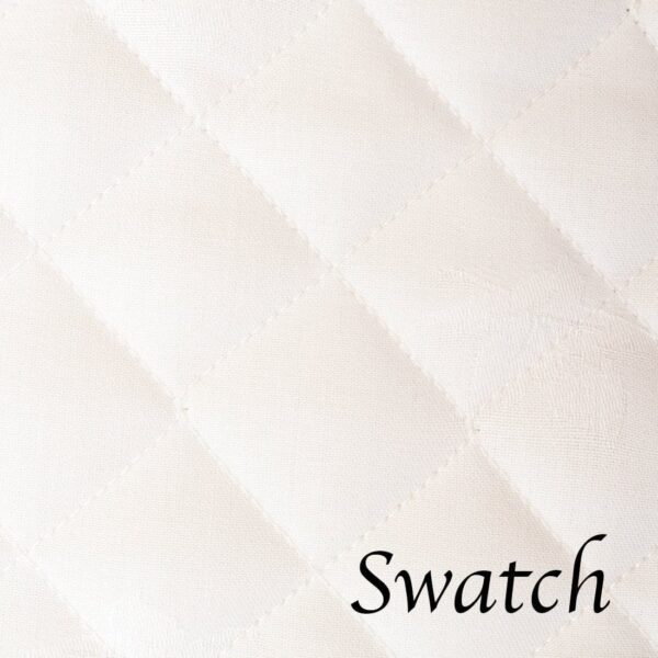 Sweet Pea Linens - Solid White Quilted Jacquard Charger-Center Round Placemat (SKU#: R-1015-Y1) - Swatch