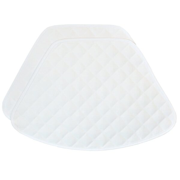 Sweet Pea Linens - Solid White Quilted Jacquard Wedge-Shaped Placemats - Set of Two (SKU#: RS2-1006-Y1) - Product Image