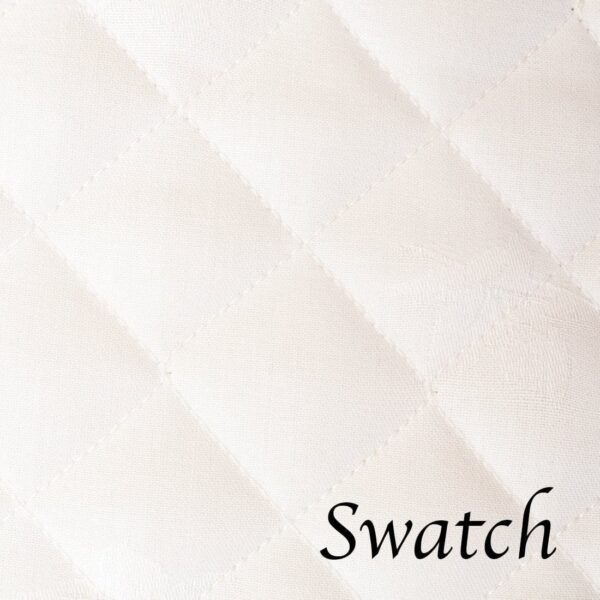 Sweet Pea Linens - Solid White Quilted Jacquard Rectangle Placemats - Set of Four plus Center Round-Charger (SKU#: RS5-1001-Y1) - Swatch