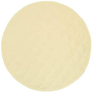 Sweet Pea Linens - Solid Ivory Quilted Jacquard Charger-Center Round Placemat (SKU#: R-1015-Y2) - Product Image