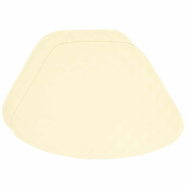 Sweet Pea Linens - Solid Ivory Quilted Jacquard Wedge-Shaped Placemats - Set of Two (SKU#: RS2-1006-Y2) - Product Image