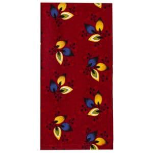 Sweet Pea Linens - Burgundy Leaf Rolled Hem Cloth Napkin (SKU#: R-1010-Y32) - Product Image