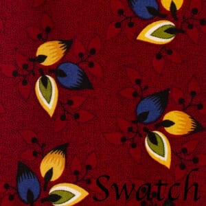 Sweet Pea Linens - Burgundy Leaf Rolled Hem Cloth Napkin (SKU#: R-1010-Y32) - Swatch
