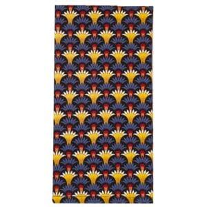 Sweet Pea Linens - Blue Foulard Rolled Hem Cloth Napkin (SKU#: R-1010-Y33) - Product Image