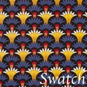 Sweet Pea Linens - Blue Foulard Rolled Hem Cloth Napkin (SKU#: R-1010-Y33) - Swatch