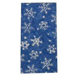 Sweet Pea Linens - Blue Snowflake  Batik Cloth Napkin (SKU#: R-1010-Y34) - Product Image