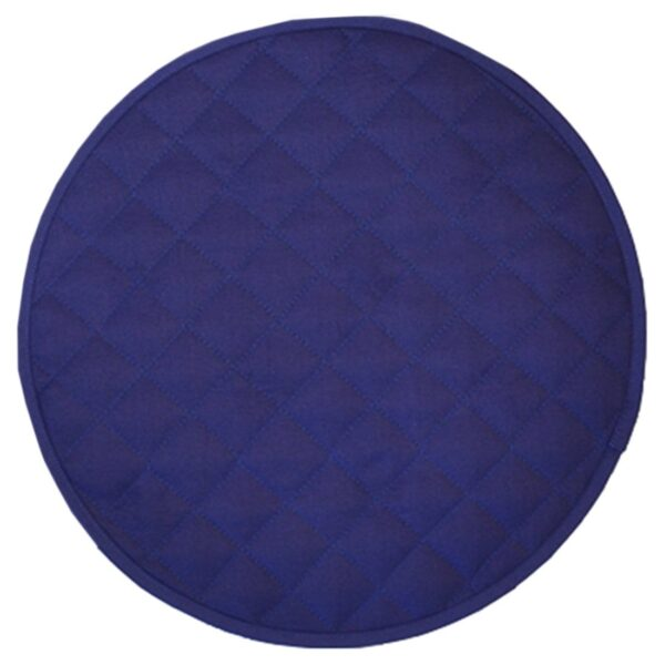 Sweet Pea Linens - Solid Dark Royal Blue Quilted Jacquard Charger-Center Round Placemat (SKU#: R-1015-Y3) - Product Image