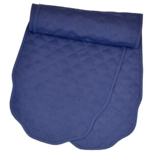 Sweet Pea Linens - Solid Dark Royal Blue Quilted Jacquard 72 inch Table Runner (SKU#: R-1024-Y3) - Product Image