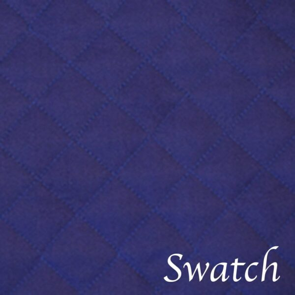 Sweet Pea Linens - Solid Dark Royal Blue Quilted Jacquard 72 inch Table Runner (SKU#: R-1024-Y3) - Swatch