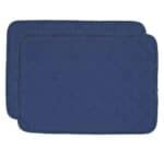 Sweet Pea Linens - Dark Royal Blue Cobblestone Quilted Jacquard Rectangle Placemats - Set of Two (SKU#: RS2-1001-Y30) - Product Image