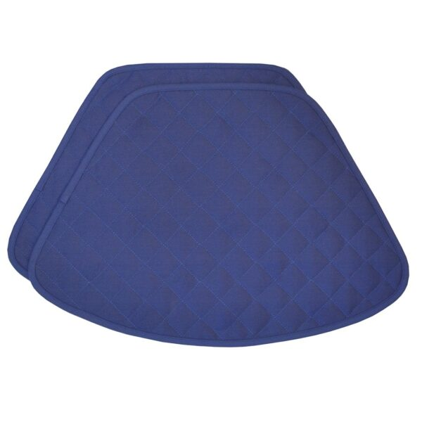 Sweet Pea Linens - Solid Dark Royal Blue Quilted Jacquard Wedge-Shaped Placemats - Set of Two (SKU#: RS2-1006-Y3) - Product Image