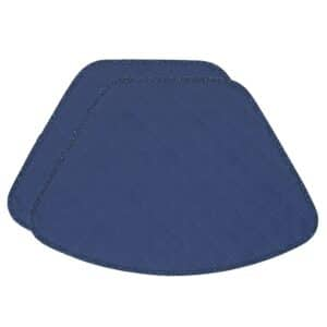 Sweet Pea Linens - Dark Royal Blue Cobblestone Quilted Jacquard Wedge-Shaped Placemats - Set of Two (SKU#: RS2-1006-Y30) - Product Image