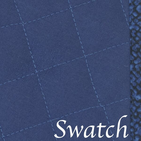 Sweet Pea Linens - Dark Royal Blue Cobblestone Quilted Jacquard Wedge-Shaped Placemats - Set of Two (SKU#: RS2-1006-Y30) - Swatch
