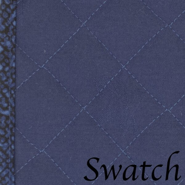 Sweet Pea Linens - Dark Royal Blue Cobblestone Quilted Jacquard Wedge-Shaped Placemats - Set of Four plus Center Round-Charger (SKU#: RS5-1006-Y30) - Swatch
