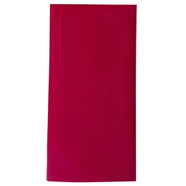 Sweet Pea Linens - Solid Red Rolled Hem Jacquard Cloth Napkin (SKU#: R-1010-Y4) - Product Image