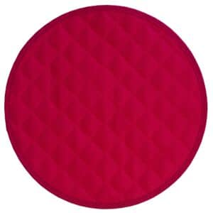 Sweet Pea Linens - Red Cobblestone Quilted Jacquard Charger-Center Round Placemat (SKU#: R-1015-Y40) - Product Image