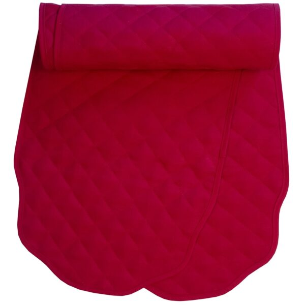 Sweet Pea Linens - Solid Red Quilted Jacquard 72 inch Table Runner (SKU#: R-1024-Y4) - Product Image